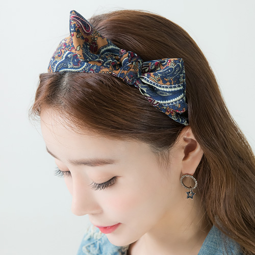 1046219 - <HA558_H1> paisley ribbon hairband