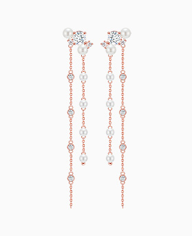 1046228 - <ER1451_CA17> [Silver Post] aurora pearl long earrings