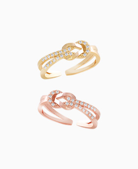 1046238 - <RI733_S> [Sold out] Cleo Knot ring