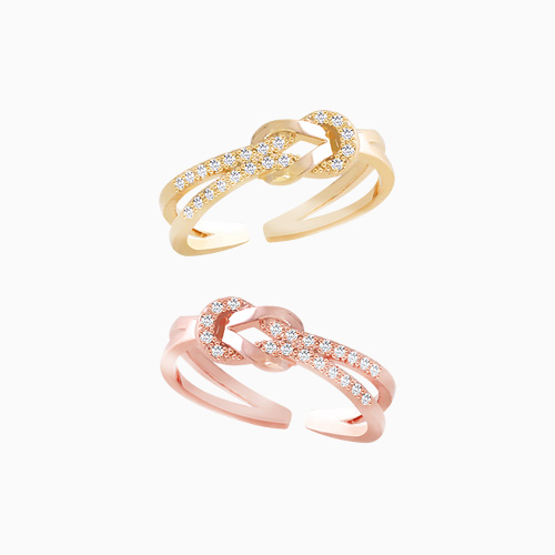 1046238 - <RI733_JF21> Cleo knot ring