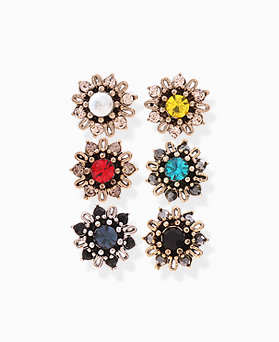 1046243 - <ER1460_CC18> [Silver Post] Chloe Mini Flower earrings