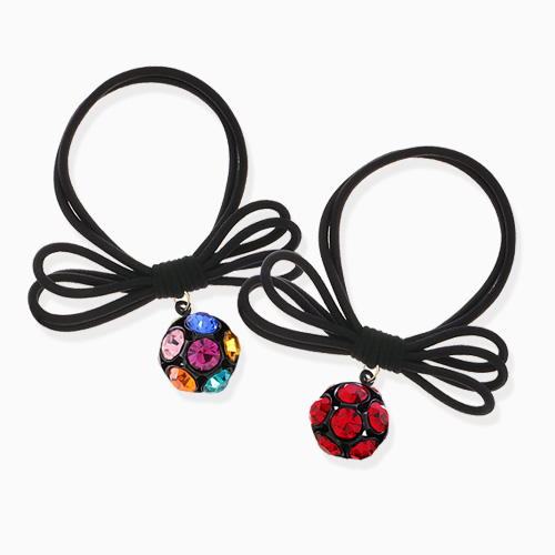 1046244 - <HA563_FB04> bright cubic ball ponytail
