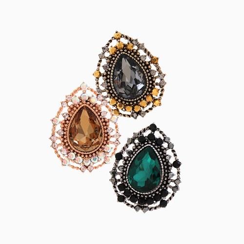 1046254 - <ER1466_CA19> [Silver Post] antique tears earrings