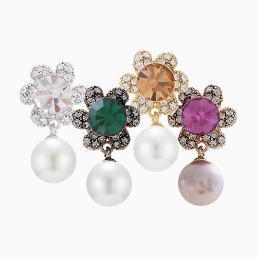 1046264 - <ER1442_CG15> [clip type] Arista Flower pearl earrings