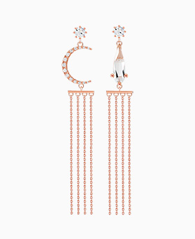 1046267 - <ER1430_DJ10> [clip type] Avid Unbalanced earrings