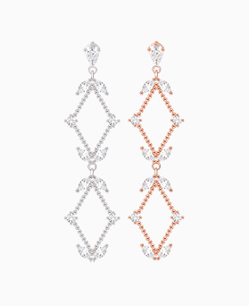 1046268 - <ER1422_CB17> [clip type] Crispy drop earrings