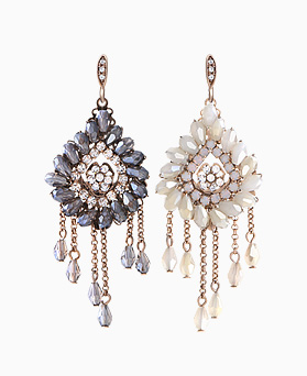 1046270 - <ER1424_CB19> [clip type] [handmade] eve crystal drop earrings