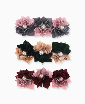 1046279 - <HA566_FA04> two tone Flower hairpin
