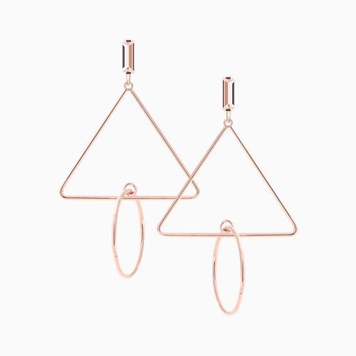 1046281 - <ER1482_CC20> [Silver Post] triangle line mobile earrings