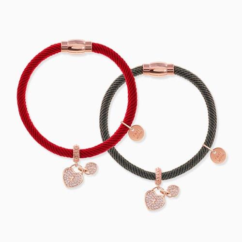 1046284 - <BC703_HB05> heart lock bracelet