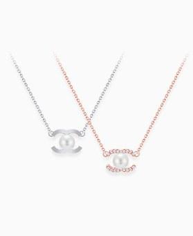 1046296 - <NE444_BD00> [Silver] pearl eye necklace