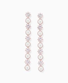 1046301 - <ER1486_CE20> [Silver Post] pearl drop earrings