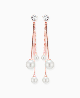 1046316 - <ER1481_CC20> [clip type] triple chain pearl earrings
