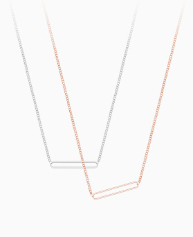 1046320 - <NE445_BE00> [Silver] Hollis necklace