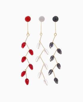 1046332 - <ER1492_DA10> [Silver Post] Fringe drop earrings