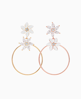 1046334 - <ER1490_CF16> [Silver Post] Signature Flower earrings