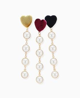 1046339 - <ER1498_CB16> Art nouveau pearl long earrings