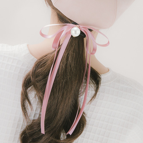 1046349 - <HA573_FE03> Pleats long ribbon ponytail
