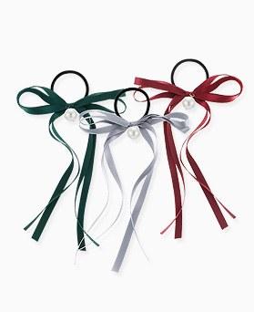 1046349 - <HA573_FE03> Pleats long ribbon ponytail