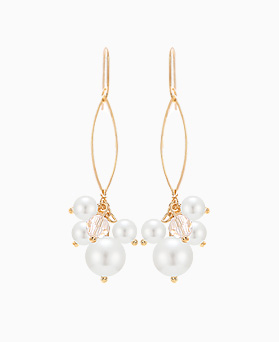 1046351 - <ER1504_DK06> pearl Ensemble earrings