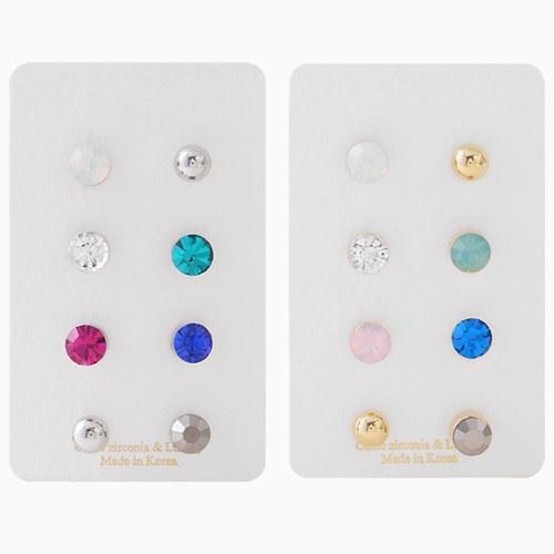 1046356 - <ER1509_CC08> [8Piece 1set] bubble bubble earrings