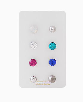 1046356 - <ER1509_CC08> [8Piece 1set] bubble bubble earrings