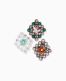 1046366 - <ER1501_DH03> [clip type] antique Teresa Flower earrings