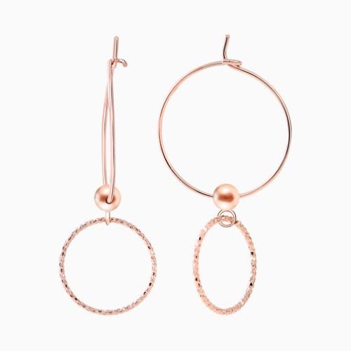 1046375 - <ER1422_BD00> [Silver] allegro ring earrings