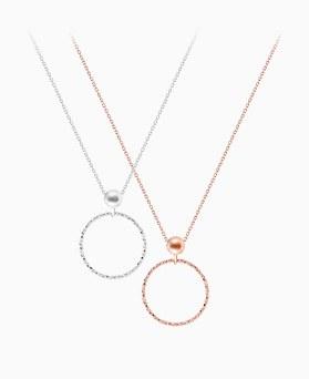 1046377 - <NE435_BD00> [Silver] allegro ring necklace