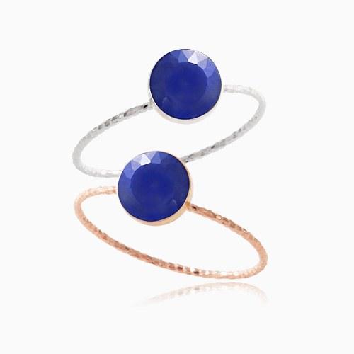 1046388 - <RI752_AG07> [Silver] Lapis lazuli gemstone ring