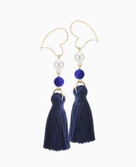 1046405 - <ER1429_CA15> heart ring tassel earrings