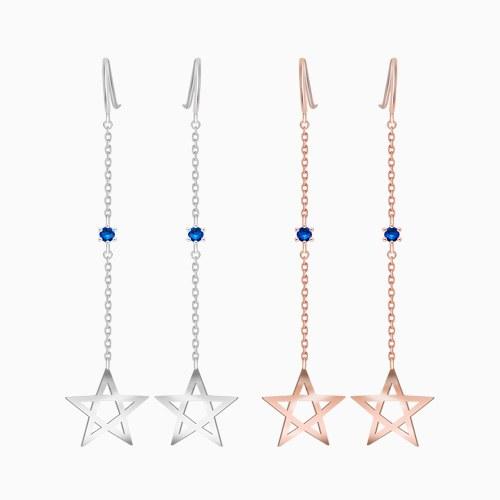 1046406 - <ER1425_BG02> [Silver] star Ann Blue earrings