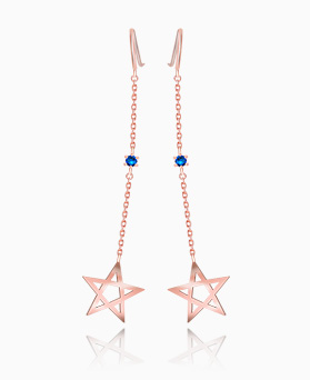 1046406 - <ER1425_BG02> [Silver] star Ann Blue earrings
