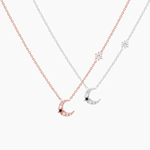 1046411 - <NE438_IG10> [tvN hundred million star sponsored from the sky] minimal moon necklace