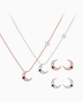 1046412 - <JS32_IG10> [necklace + earrings] minimal moon set