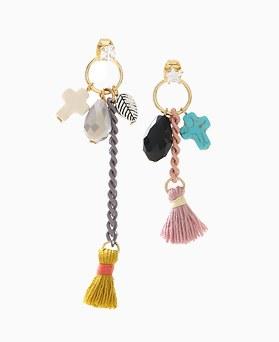 1046414 - <ER1445_CG19> sweety tassel Ann cross earrings