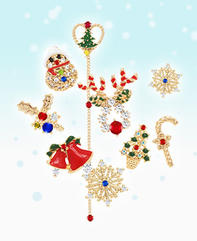 1046421 - <ER1828_S> [Silver Post] Christmas Song earrings