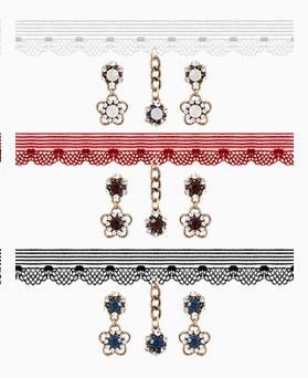 1046452 - <JS34_IE11> harmonia antique Flower choker set