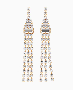 1046455 - <ER1526_CD11> [Silver Post] Silky cubic long earrings