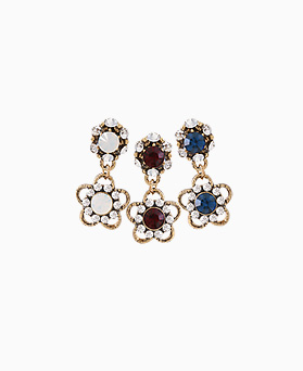 1046472 - <ER1448_IE11> [clip type] harmonia antique Flower earrings