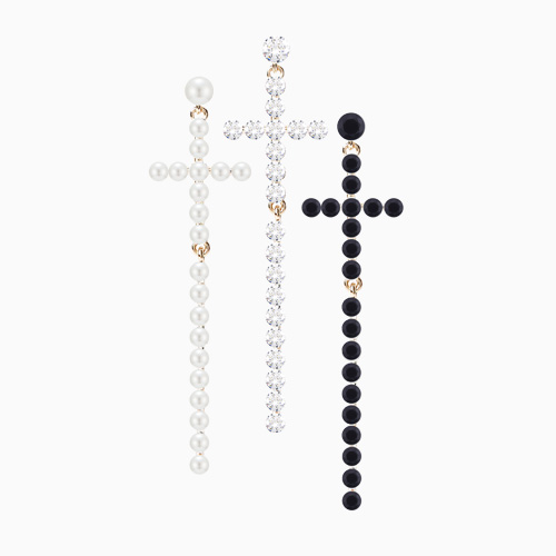 1046498 - <ER1547_CA06> [Supported by MBC] [Silver Post] Phenylla long cross earrings
