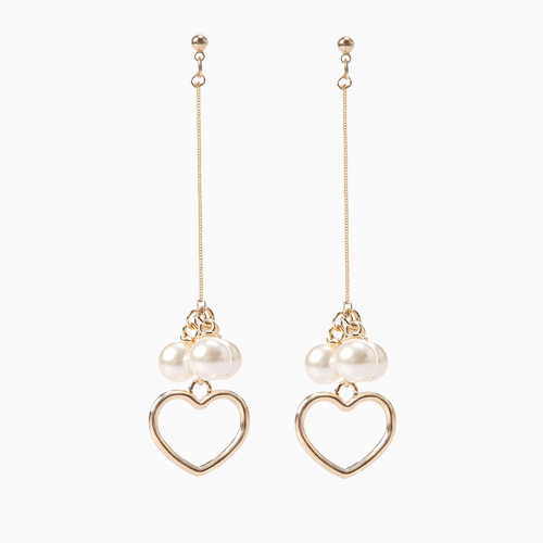 1046499 - <ER1545_CB07> Karin heart pearl earrings