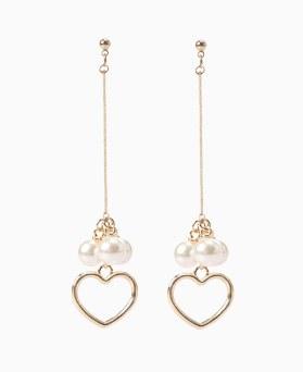 1046499 - <ER1545_CB07> Karin heart pearl earrings