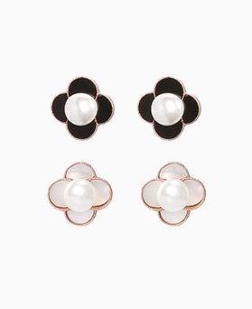 1046503 - <ER1543_DG02> [Silver Post] Lausanne Flower earrings