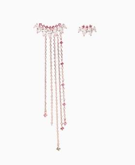 1046505 - <ER1540_DB17> [Silver Post] Quat Unbalanced earrings