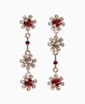 1046507 - <ER1548_ID05> [Silver Post] Lewis Flower cubic earrings
