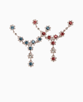 1046508 - <NE463_ID05> Luis Flower cubic necklace
