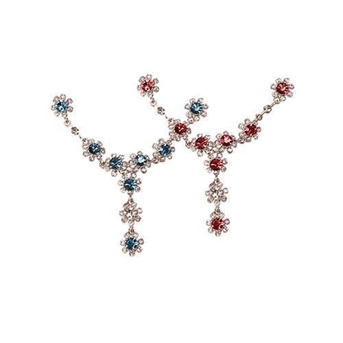 1046508 - <NE463_ID05> Luis Flower cubic necklace