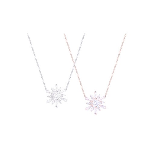 1046518 - <NE464_ID03> Tari snow flower necklace