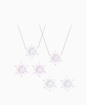 1046519 - <JS55_ID03> [earrings + necklace] Tarry snow flower set